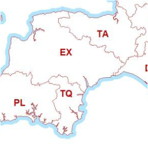 Postcode Area Map